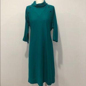 Vintage Blair Dress Green Long Sleeve Mod